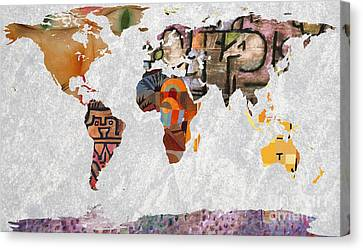 World Map  Paul Klee 2 Canvas Print by John Clark