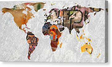 World Map   Paul Klee 3 Canvas Print