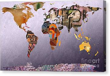 World Map  Paul Klee 4 Canvas Print by John Clark