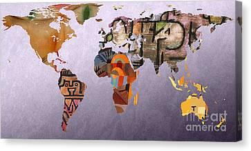 World Map  Paul Klee 5 Canvas Print