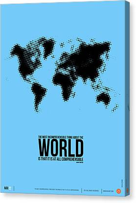 World Map Poster Canvas Print by Naxart Studio