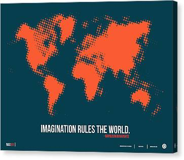 World Map With A Quote 5 Canvas Print