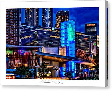 World Of Coca Cola Poster Canvas Print by Doug Sturgess