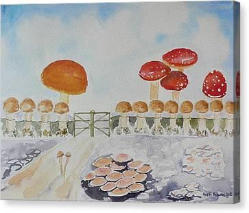 World Of Mushroom  Canvas Print