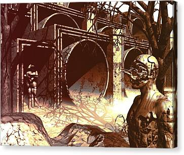 World Of Ruin Canvas Print by John Alexander