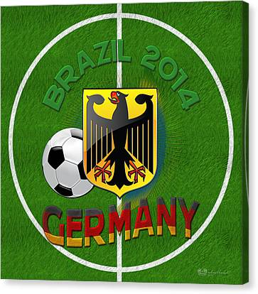 World Of Soccer 2014 - Germany Canvas Print by Serge Averbukh