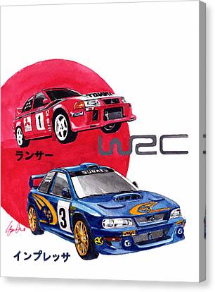 World Rallye Championship Canvas Print by Yoshiharu Miyakawa