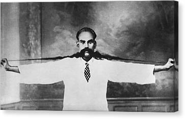 World Record Moustache Canvas Print by Underwood Archives