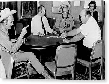 World Series Of Poker Canvas Print by Underwood Archives
