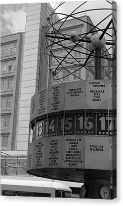 World Time Clock Berlin Canvas Print by Steve K
