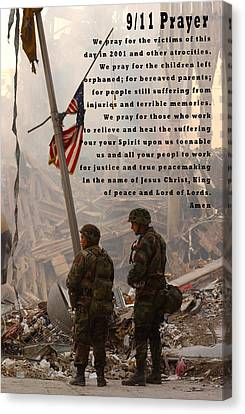 World Trade Center 9 11 Prayer Canvas Print by Andrea Booher