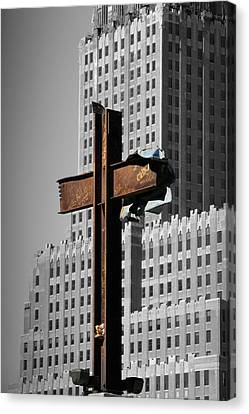 World Trade Center Cross New York Canvas Print by Mathew Lodge