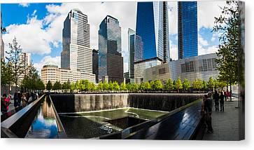 World Trade Center - South Memorial Pool Canvas Print by Chris McKenna