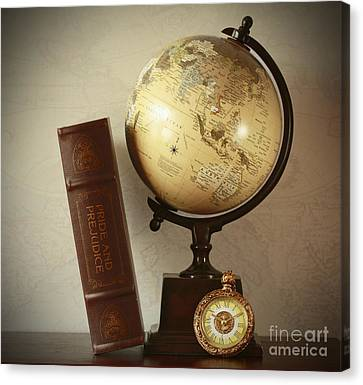 World Travel And Vintage Moments Canvas Print by Inspired Nature Photography Fine Art Photography