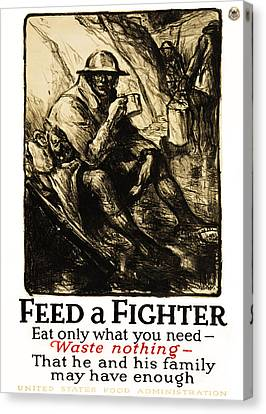 World War 1 - U. S. War Poster Canvas Print by Daniel Hagerman