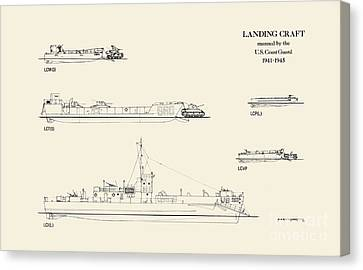 World War 2 Landing Craft Manned By The Us Coast Guard Canvas Print