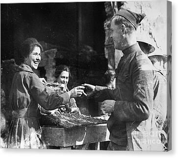 World War I - Infantryman Canvas Print by Granger