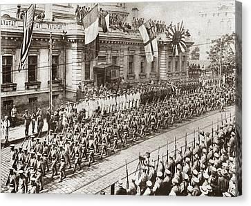Vladivostok Canvas Print - World War I Allied Parade by Granger