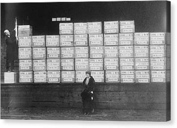 World War I Cigarette Shipment Canvas Print by Library Of Congress