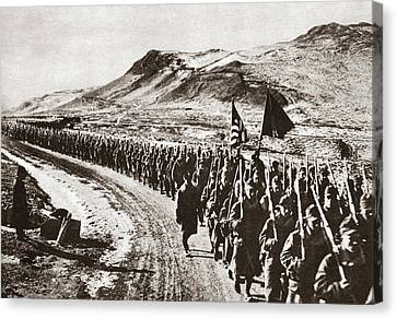 Vladivostok Canvas Print - World War I Hike, C1919 by Granger