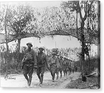 World War I Infantry, C1917 Canvas Print by Granger