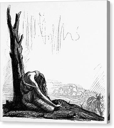 World War I Leuven, 1914 Canvas Print
