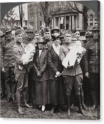 World War I Return, C1918 Canvas Print by Granger