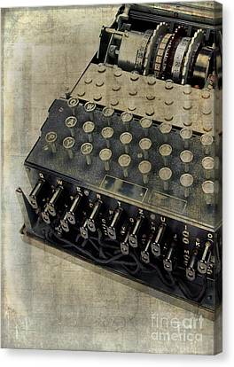 Control Canvas Print - World War II Enigma Secret Code Machine by Edward Fielding