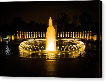 Rememberance Canvas Print - World War II Memorial  by Kathy Liebrum Bailey