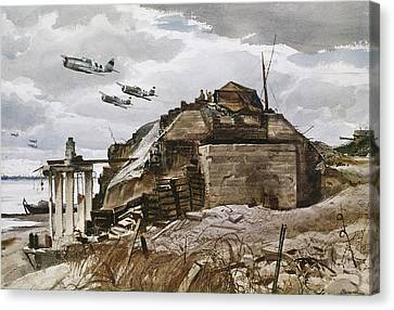 World War II: Normandy Canvas Print by Granger