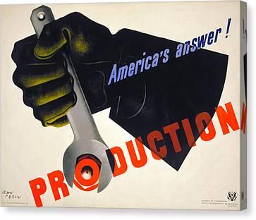 World War II Poster, 1941 Canvas Print by Granger