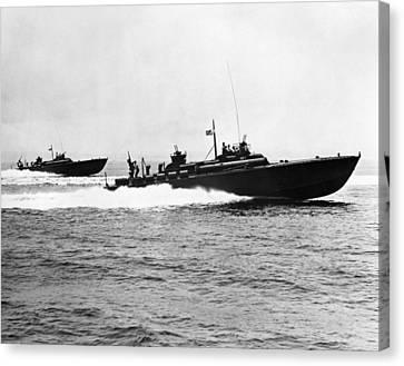 World War II: Pt Boat Canvas Print by Granger