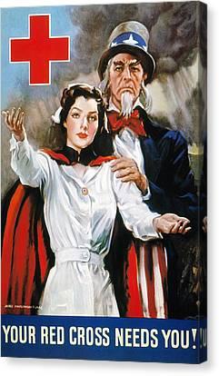 World War II: Red Cross Canvas Print by Granger