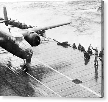 World War II: Uss Hornet Canvas Print by Granger