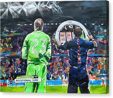 Worldcup 2014 - The Moment Canvas Print by Lucia Hoogervorst