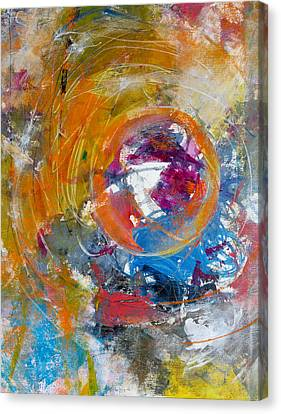 Canvas Print featuring the painting Worldly  by Katie Black