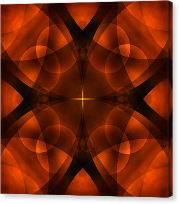 Earth Tones Canvas Print - Worlds Collide 16 by Mike McGlothlen
