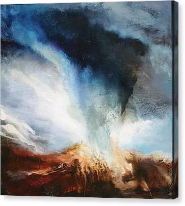 Worlds Collide Canvas Print by Lissa Bockrath