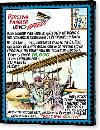 Canvas Print - World's First Commercial Airline Flight by Warren Clark