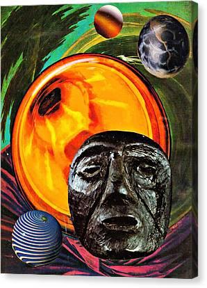 Worlds In Orbit Canvas Print by Sarah Loft