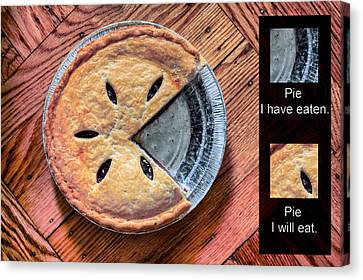 Worlds Most Accurate Pie Chart Canvas Print by JC Findley