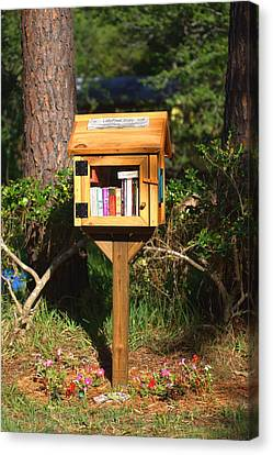 Canvas Print featuring the photograph World's Smallest Library by Gordon Elwell
