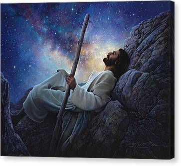 God Canvas Print - Worlds Without End by Greg Olsen