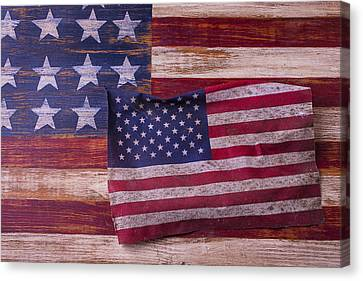 Worn American Flag Canvas Print
