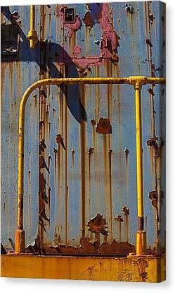 Peeling Canvas Print - Worn Train Detail by Garry Gay