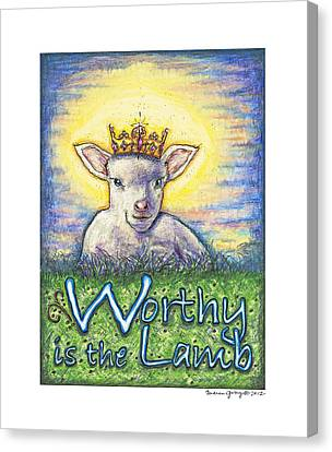 Worthy Is The Lamb Canvas Print by Andrea Gray