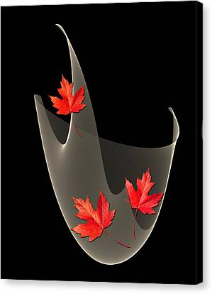Woven Maple Leaves Canvas Print