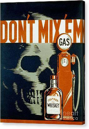 Wpa  Vintage Safety Poster Canvas Print by Edward Fielding