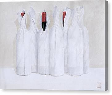 Cellar Canvas Print - Wrapped Bottles 3 2003 by Lincoln Seligman