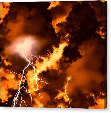 Wrath Of Zeus Canvas Print